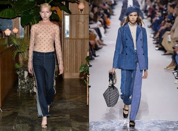 Jeans with piping spring summer 2019