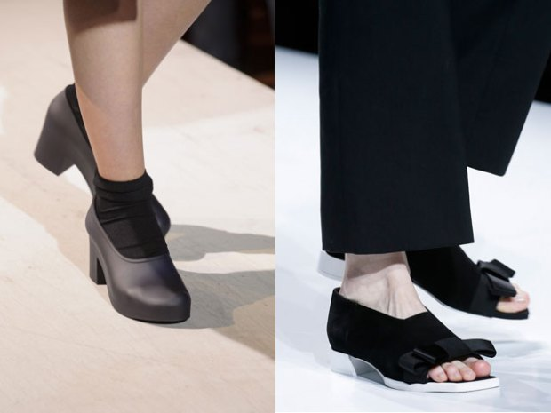 Office shoes with thick heel
