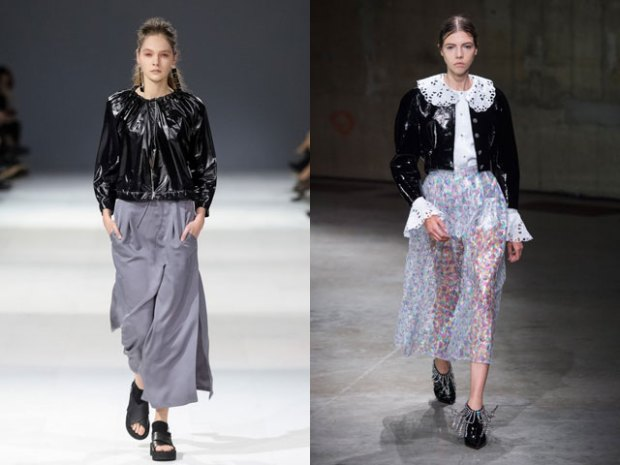 Black patent leather jackets spring summer 2019