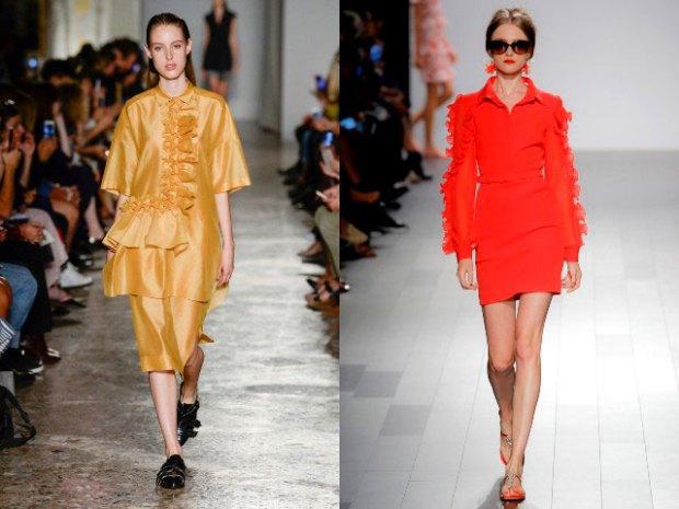 Office dresses spring summer 2019 with frills