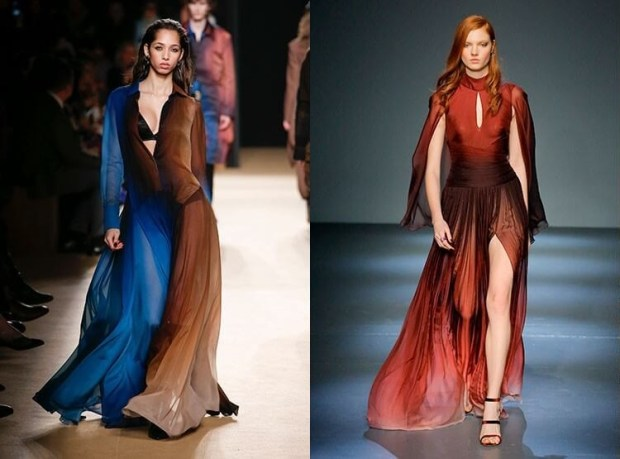 Fall winter gowns 2019 2020 ombre