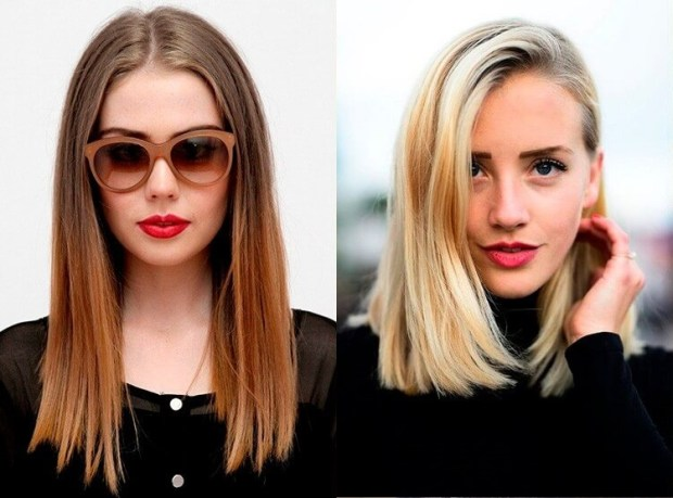Lob for straight hair