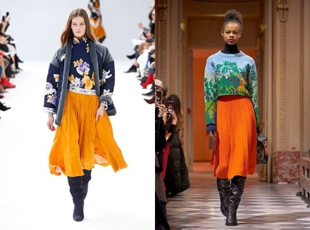 What skirts to wear in winter 2020