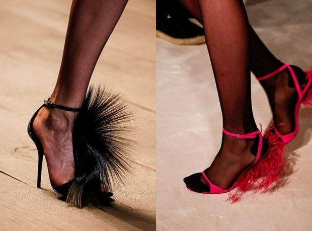 Feathered footwear fall winter 2019 2020