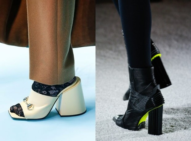 Footwear with thick heel fall 2019 winter 2020
