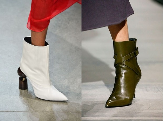 Boots with pointed toe
