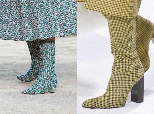 Textile boots
