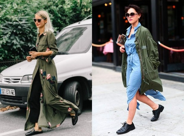 Street style fashion trends fall winter 2019 2020: military style