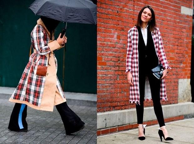 Street style fashion fall winter 2019 2020: plaid