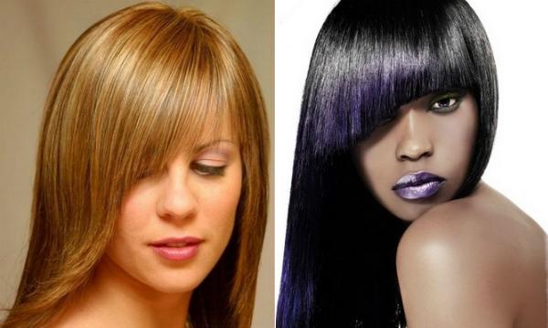 Haircuts ideas with asymmetrical bangs for long hair