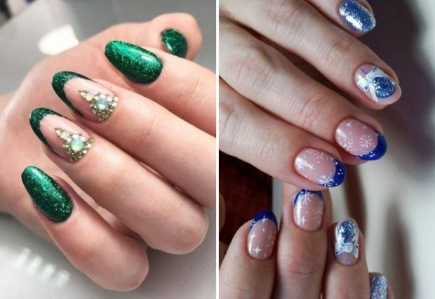 Holiday French manicure 2019
