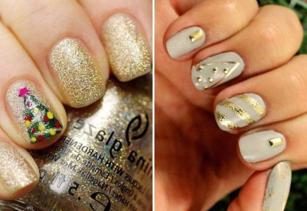 Simple nail art designs for Christmas 2019