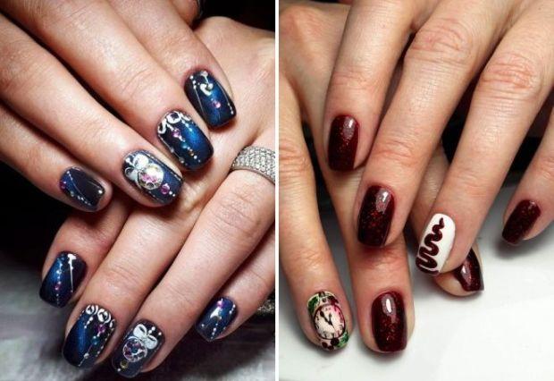Short nails for holiday 2019