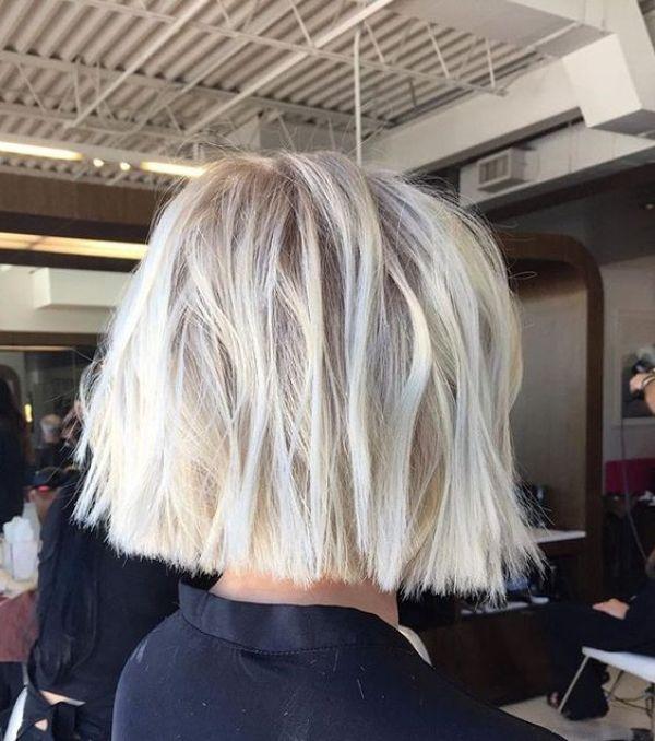 Blunt bob 2020 blonde hair