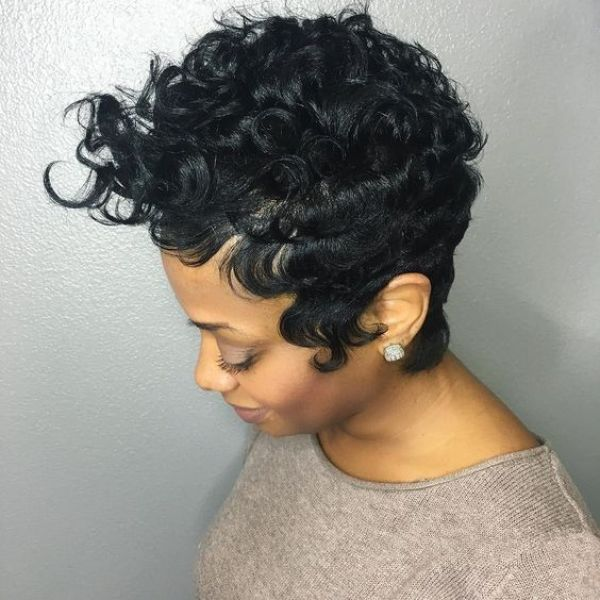 Short hair haircuts for curly hair