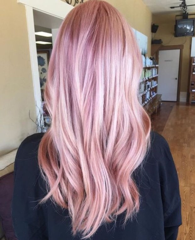 Medium length hair strawberry blonde