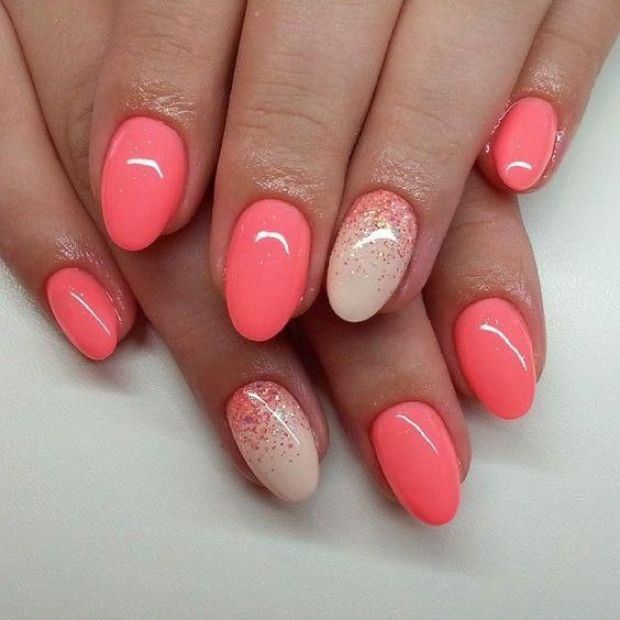 coral almond shape