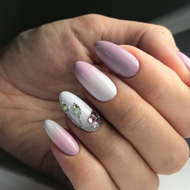ombre with stones