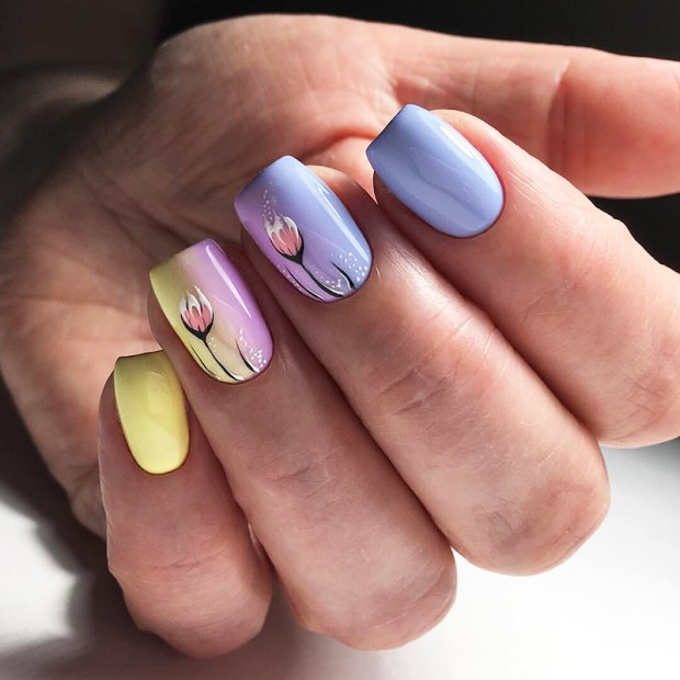 Ombre gel nails designs 2020