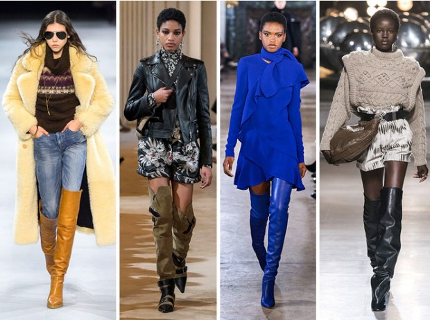 Long boots at Paris fashion week fall winter 2020 2021