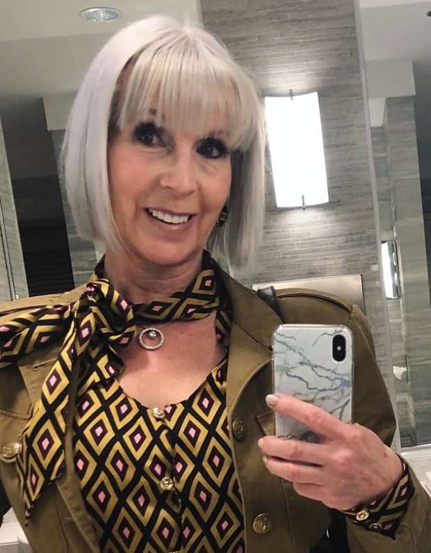 Straight bob with bangs for women over 50