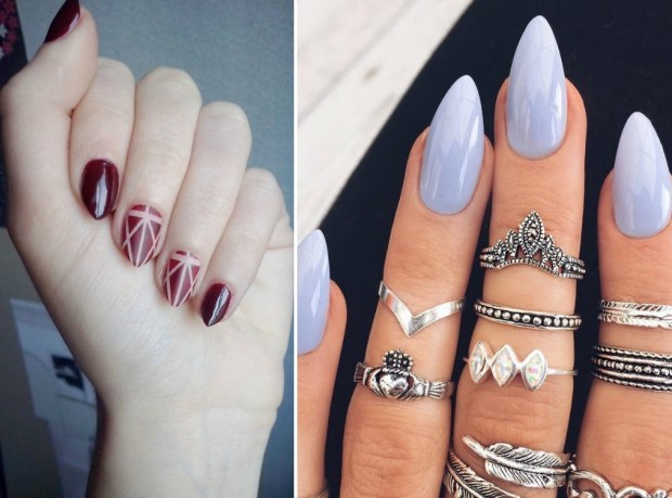 Fall 2020 almond shape nails trend