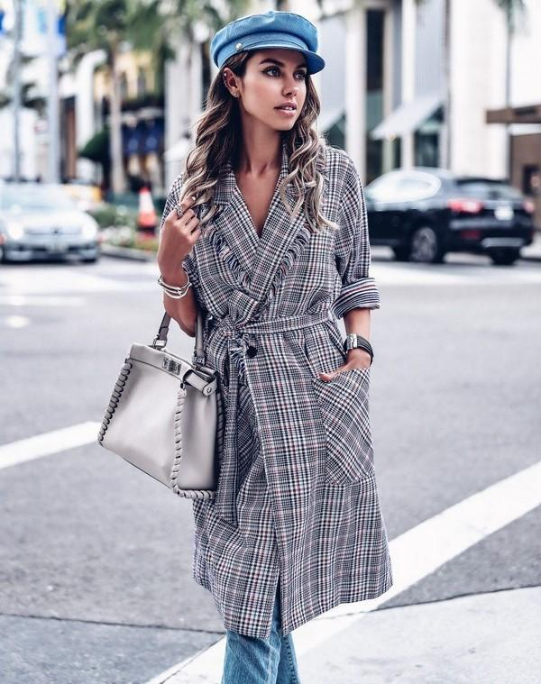 Fall 2020 plaid trench coats
