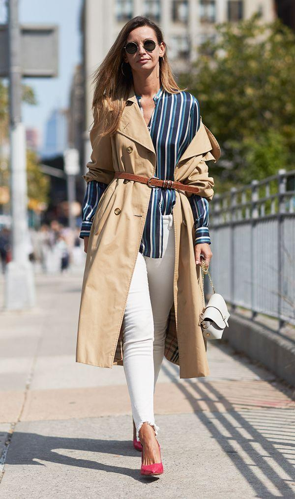 Women trench coats trends fall 2020