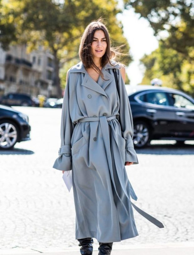 Women oversize trench coats