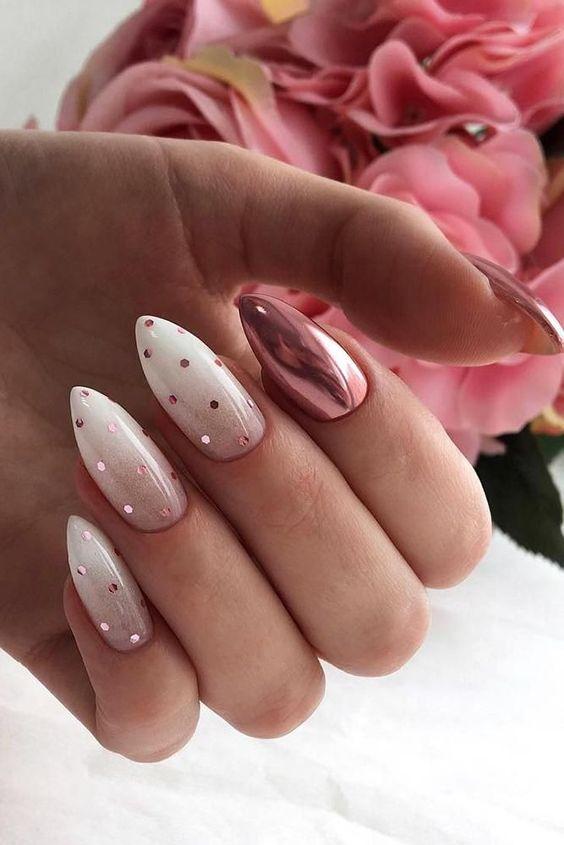 Glitter nails 2021 spring summer