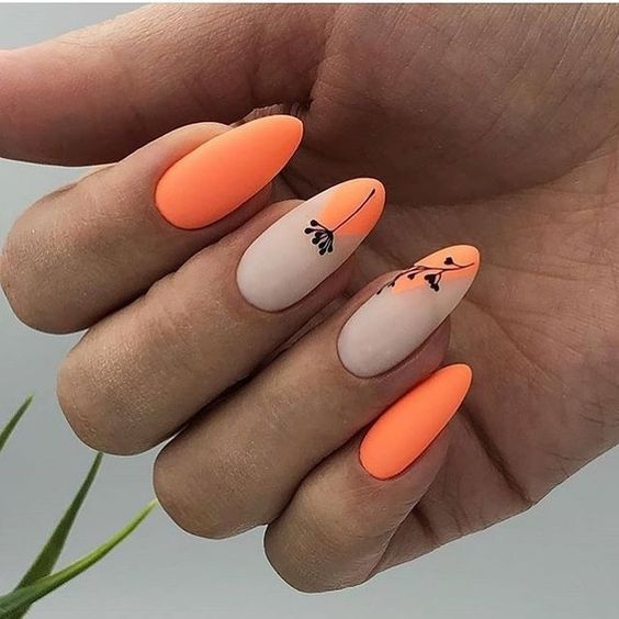 Long gel nails spring summer 2021