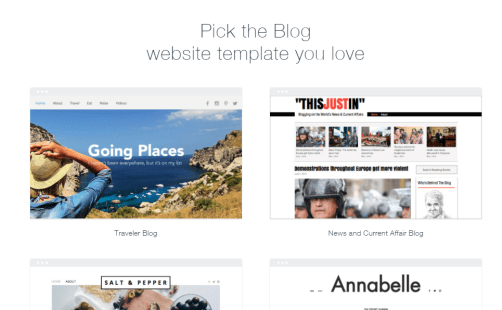 Wix blog template