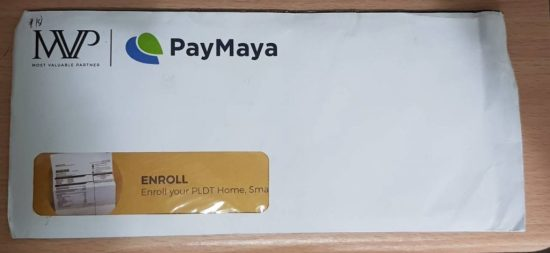 MVP Rewards card in envelope