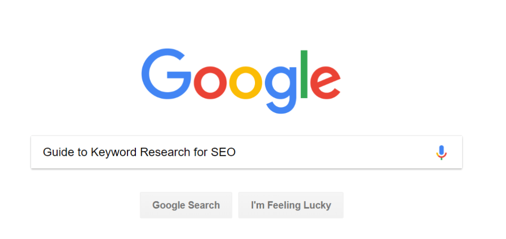 Guide to Keyword Research for SEO