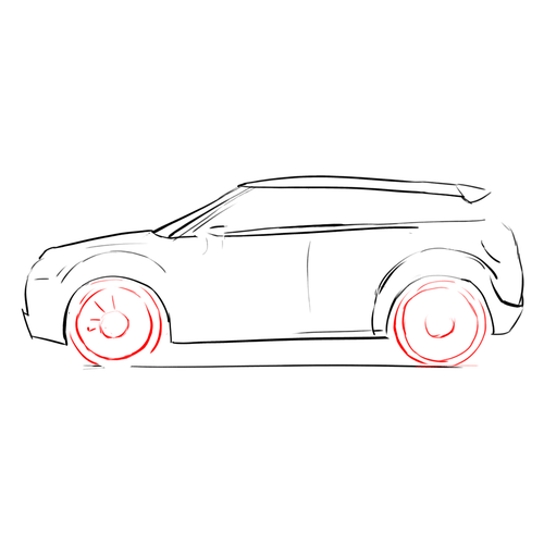 How to Draw Cars: Range Rover Evoque: Lesson