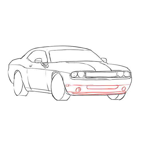 How to Draw Cars: Dodge Challenger SRT8: Lesson