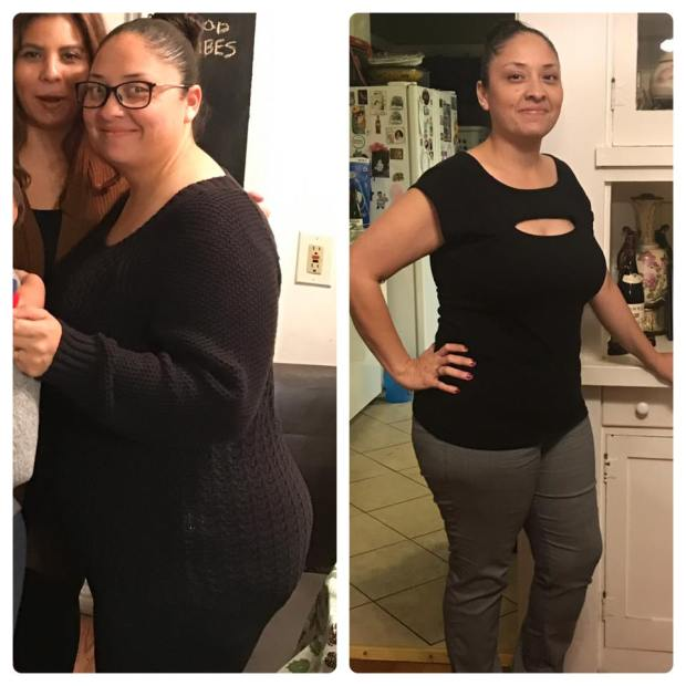 Before and after Keto diet
