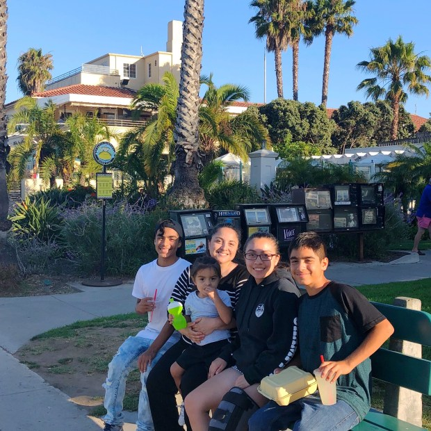 Family at the Santa Barbara Boardwalk