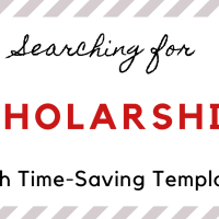 Searching For Scholarships With Time-Saving Templates