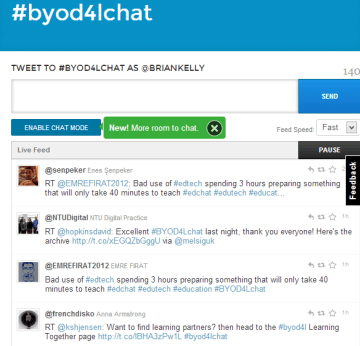 The #byod4lchat Twubs archive