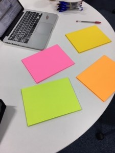 photo of giant post it notes