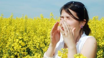 woman suffering from allergies