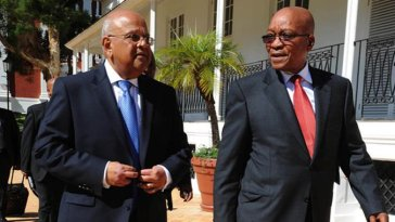 Pravin Gordhan and Jacob Zuma