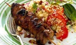pork sosaties with couscous