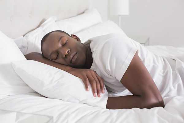 black man sleeping