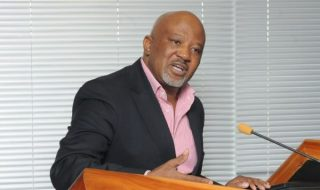 Mcebisi Jonas giving a speech