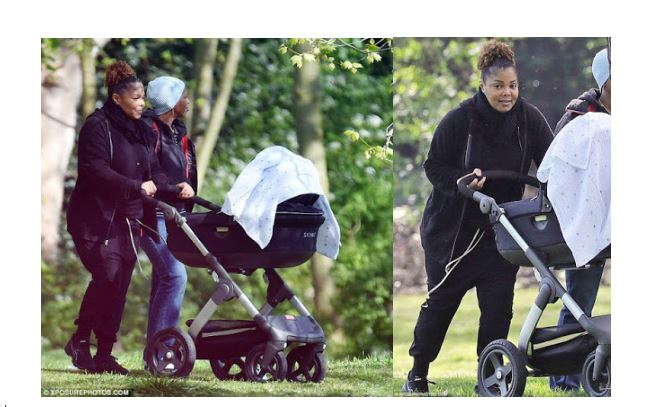 janet jackson steps out with son
