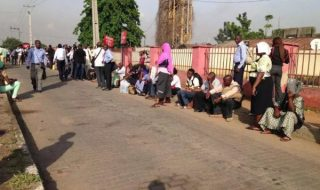 Commuters wait for buses despite strike