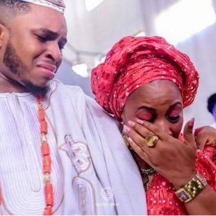 Image result for nigerian mother and bride crying on her wedding day