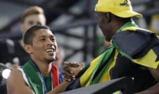 Wayde Van Niekerk And Usain Bolt